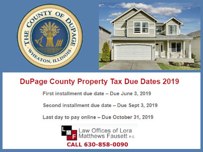 DuPage County Property Tax Due Dates 2019