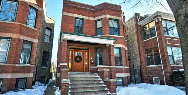 Chicago brownstone two flat homes