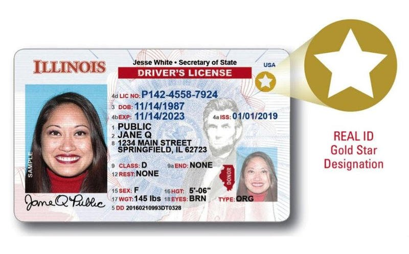 Illinois Real ID Drivers License